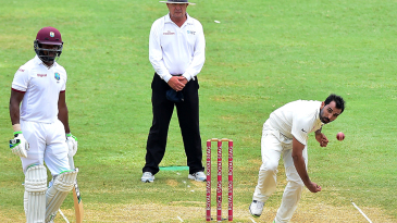 Mohammed Shami delivers a ball