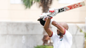 Roston Chase marked his century with a unique salute