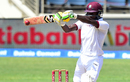 Roston Chase stands tall and cuts a short, wide delivery, West Indies v India, 2nd Test, Kingston, 5th day, August 3, 2016
