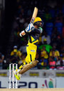 Kumar Sangakkara leaps to send one whizzing through the off side, Guyana Amazon Warriors v Jamaica Tallawahs, CPL 2016, 1st playoff, St Kitts, August 3, 2016