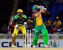 Chris Lynn punches through the covers on his way to 49, Guyana Amazon Warriors v Jamaica Tallawahs, CPL 2016, 1st playoff, St Kitts, August 3, 2016