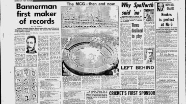 Charles Bannerman features in an article marking the Centenary Test in 1977