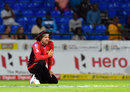 Brendon McCullum reacts to dropping a catch, St Lucia Zouks v Trinbago Knight Riders, CPL 2016, eliminator, St Kitts, August 4, 2016