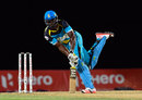Darren Sammy keeps out a yorker, St Lucia Zouks v Trinbago Knight Riders, CPL 2016, eliminator, St Kitts, August 4, 2016