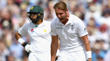 Stuart Broad opened his wicket tally when he removed Asad Shafiq
