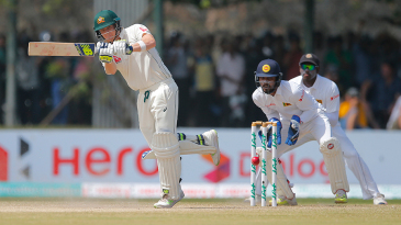 Steven Smith steers the ball on to the leg side