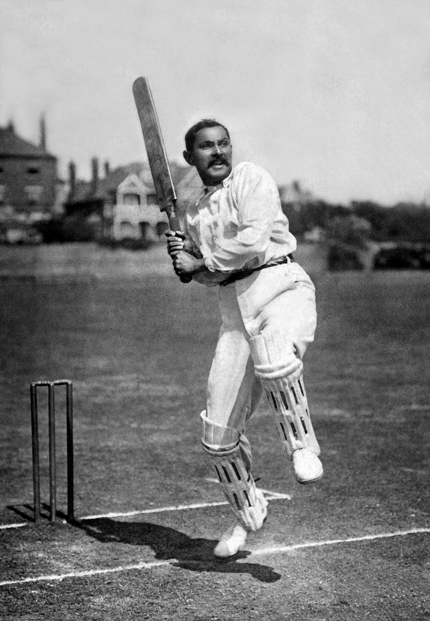 Hove, September 1904: Beldam's picture of Ranji that foreshadows the iconic image of Trumper the following year