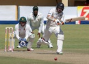 Tom Latham pushes the ball down the ground, Zimbabwe v New Zealand, 2nd Test, Bulawayo, 1st day, August 6, 2016