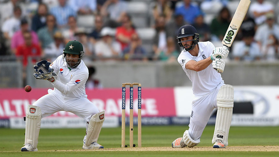 James Vince plays through the off side