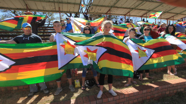 The Zimbabwe fans held a protest on the first day
