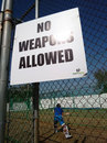 No weapons allowed: a sign at the nets at Sabina Park, Kingston, July 28, 2016