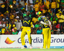 Kesrick Williams dances after removing Steven Jacobs, Jamaica Tallawahs v Guyana Amazon Warriors, CPL 2016, Final, St Kitts, August 7, 2016