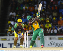 Anthony Bramble is bowled for a duck after a wild swipe, CPL 2016, final, St Kitts, August 7, 2016
