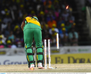 Steven Jacobs loses his off stump, CPL 2016, final, St Kitts, August 7, 2016