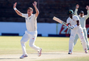Trent Boult's big appeal for lbw was turned down, Zimbabwe v New Zealand, 2nd Test, Bulawayo, 3rd day, August 8, 2016
