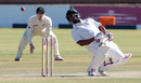 Tino Mawoyo sways out of the way of a bouncer, Zimbabwe v New Zealand, 2nd Test, Bulawayo, 3rd day, August 8, 2016