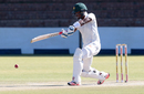 Chamu Chibhabha plays through the off side, Zimbabwe v New Zealand, 2nd Test, Bulawayo, 3rd day, August 8, 2016