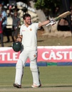 Craig Ervine celebrates his century, Zimbabwe v New Zealand, 2nd Test, Bulawayo, 3rd day, August 8, 2016