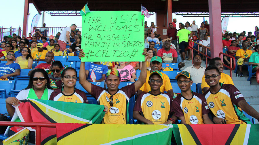 Fans welcome the arrival of the CPL's first match on US soil in Florida