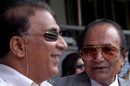 Sunil Gavaskar and Hanif Mohammad attend the India-Pakistan Test in Bangalore, March 25, 2005