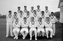 The Pakistan squad at Lord's. (Back row, left to right) Wazir Mohammad, Khalid Hasan, Shujauddin, Shakoor Ahmed, Zulfiqar Ahmed; (Middle row) Khalid Wazir, Waqar Hasan, Ikram Elahi, Mohammad Aslam, Mahmood Hussain, Alimuddin, Hanif Mohammad; (Front row) MEZ Ghazali, Fazal Mahmood, Abdul Kardar, Imtiaz Ahmed, Maqsood Ahmed