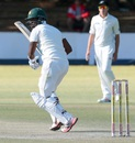 Chamu Chibhabha scored 21 in Zimbabwe's second innings, Zimbabwe v New Zealand, 2nd Test, Bulawayo, 4th day, August 9, 2016
