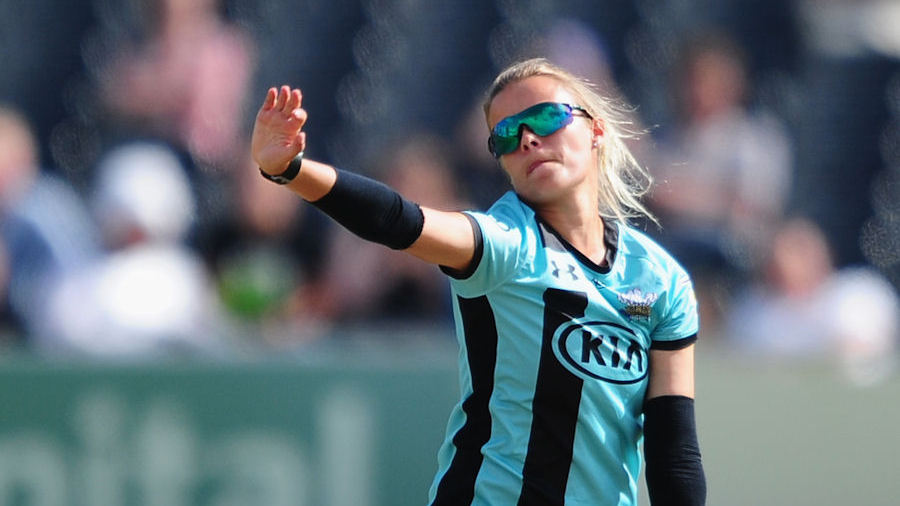 Alex Hartley in action for Surrey Stars