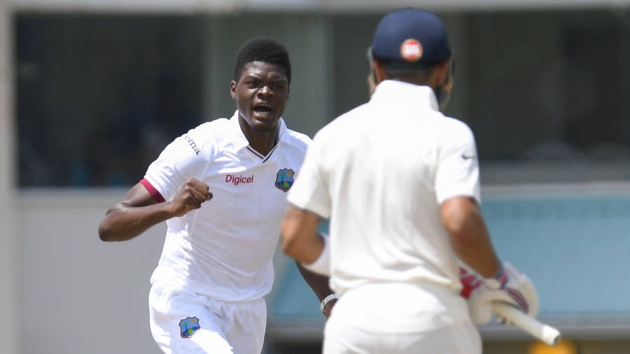 Virat Kohli sprang a surprise by walking out at No. 3. The experiment didn't last long as debutant Alzarri Joseph bounced the Indian captain out for his first Test wicket