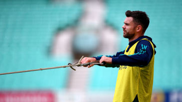 James Anderson shows his younger colleagues the ropes