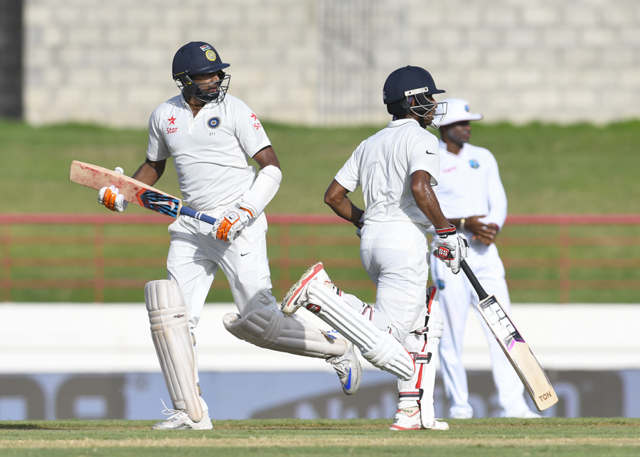 Wriddhiman Saha kept him company for an unbeaten 108-run sixth-wicket stand that saw India through to stumps without any further damage