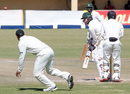 Graeme Cremer works the ball on to the off side, Zimbabwe v New Zealand, 2nd Test, Bulawayo, 5th day, August 10, 2016