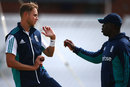 Stuart Broad and Ottis Gibson talk shop, The Oval, August 10, 2016