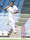 Alzarri Joseph in his delivery stride, West Indies v India, 3rd Test, Gros Islet, 2nd day, August 10, 2016