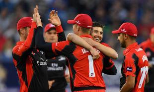 Mark Wood had a joyful night for Durham