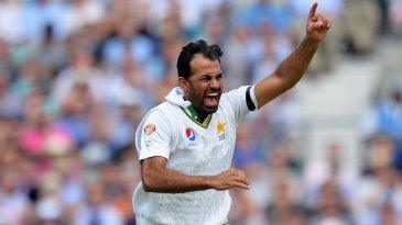 Wahab Riaz removed Joe Root and James Vince in four balls