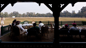 Lahore Gymkhana members play a game of Sunday cricket at the Bagh-e-Jinnah
