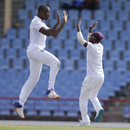 Miguel Cummins is on a high after getting rid of KL Rahul, West Indies v India, 3rd Test, Gros Islet, 4th day, August 12, 2016