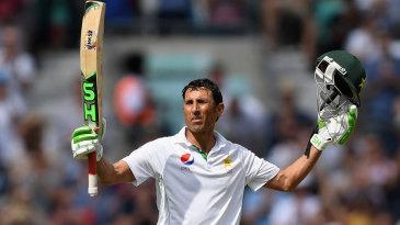 Younis Khan celebrates his double-century