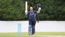 Kyle Coetzer acknowledges the crowd after reaching his third ODI century, Scotland v UAE, ICC WCL Championship, Edinburgh, August 14, 2016