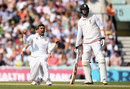 Iftikhar Ahmed wrapped up England's innings with the wicket of James Anderson, England v Pakistan, 4th Test, The Oval, 4th day, August 14, 2016