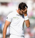 Steven Finn leaves the field with a hamstring strain, England v Pakistan, 4th Test, The Oval, 4th day, August 14, 2016
