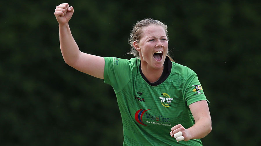 Anya Shrubsole claims a wicket