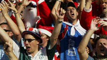 England fans cheer