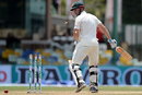 Shaun Marsh chopped the ball on to his stumps and was out for 130, Sri Lanka v Australia, 3rd Test, SSC, 3rd day, August 15, 2016