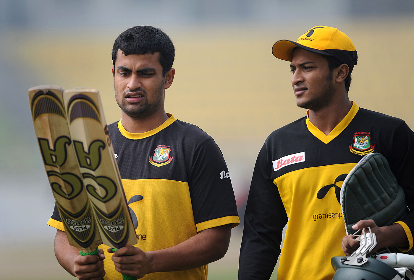 The A team: Tamim Iqbal (left) and Shakib Al Hasan have emerged as two of Bangladesh's more influential players in the last decade