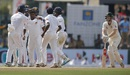 Rangana Herath celebrates with team-mates after dismissing Adam Voges, Sri Lanka v Australia, 3rd Test, SSC, 3rd day, August 15, 2016