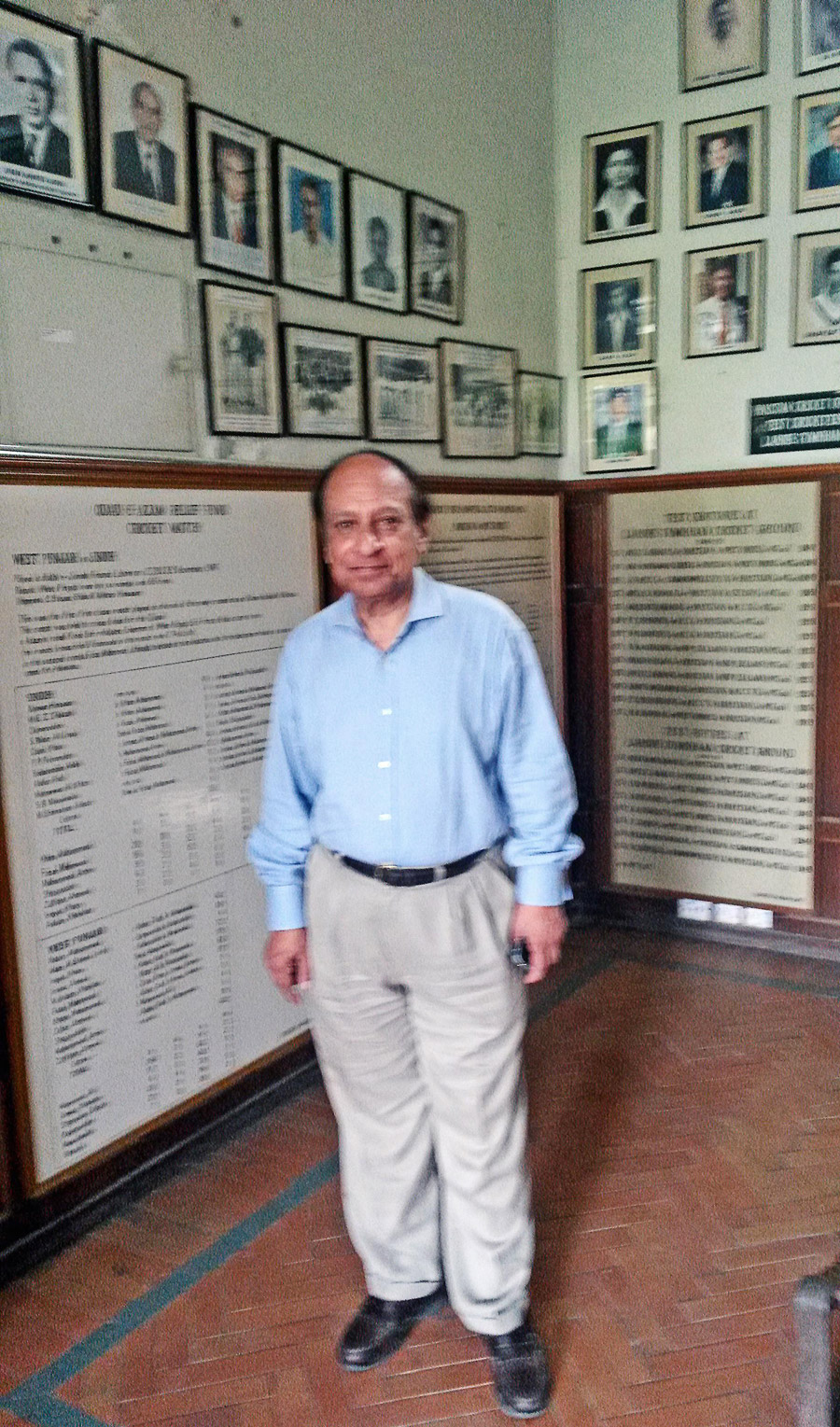 Najum Latif: working to preserve the Gymkhana ground's legacy by creating a museum showcasing Pakistan cricket memorabilia