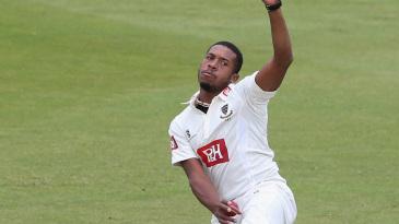 Chris Jordan bowling for Sussex