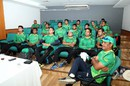 Venkatapathy Raju addresses players during a high performance spin camp, Mirpur, August 16, 2016