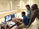James Ngoche examines footage of his action at the NCA's biomechanics facility, Lahore, August 16, 2016